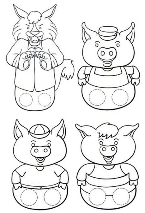 Resultado De Imagem Para Os Tres Porquinhos Desenho Para Pintar