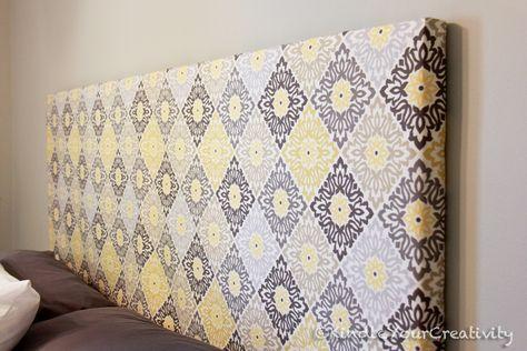 Enciende tu creatividad: Dormitorio Rehacer Master - DIY Tela Cabecera