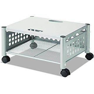 Vertiflex Mobile Underdesk Machine Stand 21 X 17 X 11 Inches Matte Gray Vf52005 Printer Stand Printer Stands Printer Shelf