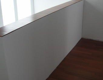 Altes Gelander Mit Fermacell Platten Verkleiden Trockenbau Parkett Gelander Fermacell Holzunterkonstruktion Treppe Sanieren Treppenrenovierung Treppenwande