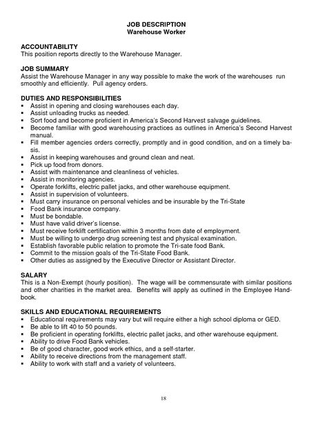 forklift resume sample australia samples operator computer savvy - warehouse manager job description