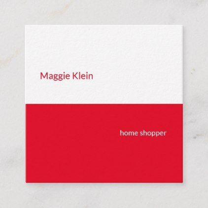 Modern Red And White Square Business Card Zazzle Com Cleaning