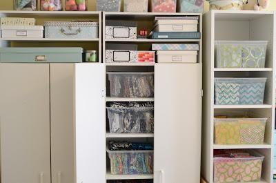 Great fabric storage ideas.