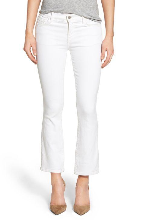 122c0bb046540 J Brand  Selena  Crop Bootcut Jeans (Blanc)