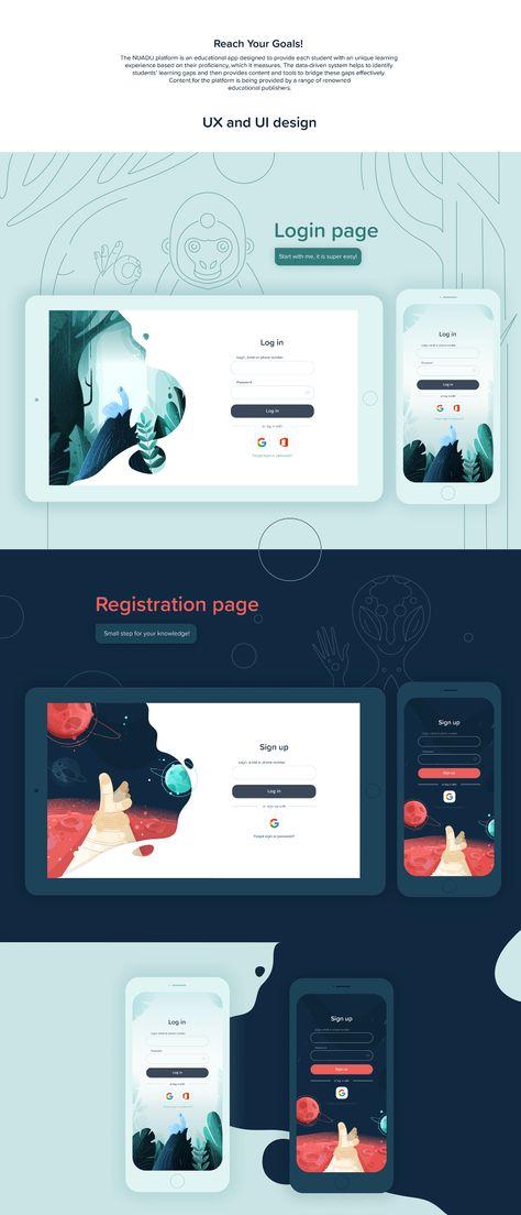 Login page, UI/UX design