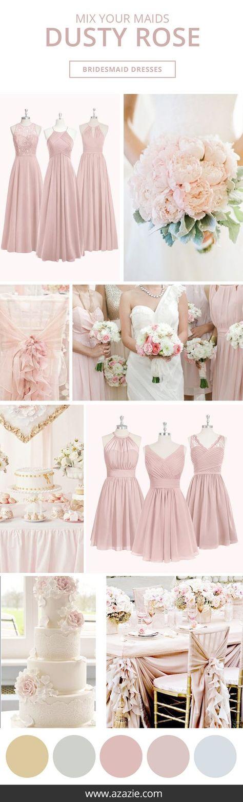 Dusty Rose Bridesmaid Dresses | Azazie