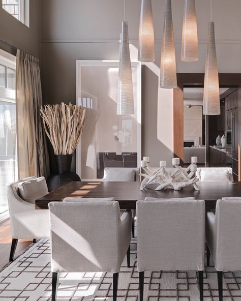 The room has a very organic feeling.  I love the lighting!  INSIGHT Design - Vancouver Interior Design Firm