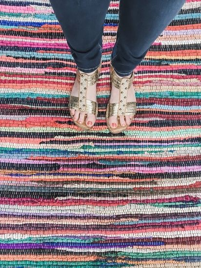 Rag Rug Jeweled Chinti Rug Better Homes And Gardens Rug Walmart