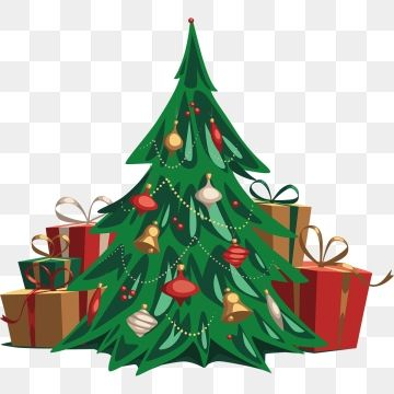 Hand Drawn Christmas Tree And Gift Illustration Christmas Tree Plant Gift Box Png And Vector With Transparent Background For Free Download Idee Di Natale Sfondo Natalizio Origami Natale