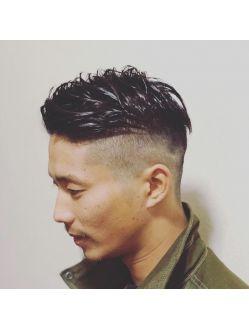 外国人風スキンフェード メンズヘアカット 髪型 メンズ ツー