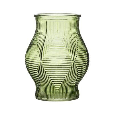 Pin By Sarah Madebach On Furniture Objects Green Glass Vase Glass Table Table Vases