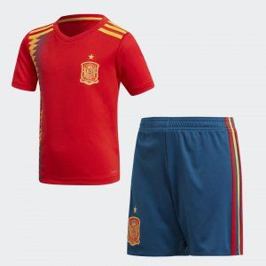 Kids 2018 Spain World Cup Home Kit L341 Red Suit Nike World France World Cup Jersey