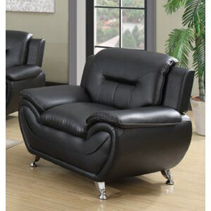 Mulvey 80 Wide Faux Leather Pillow Top Arm Sofa In 2021 Leather Club Chairs Club Chairs Modern Club Chair