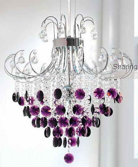 Purple Chandelier | All things Purple ♒ | Pinterest | Purple ...