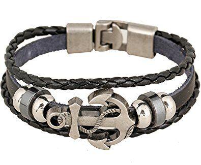 Mens Wrist Bands Bracelet Leather