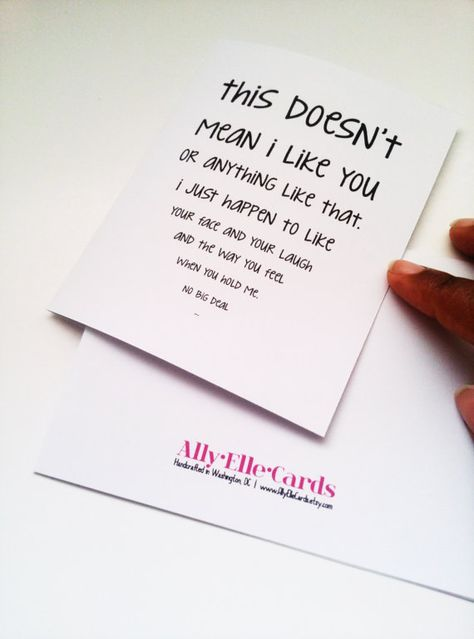Funny Valentine's Day Card-Awkward love card- just because card