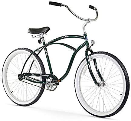 Amazon Com Firmstrong Urban Man Beach Cruiser Bike Mens Bicycle 26 Inch 1 Speed Emerald Green Gat In 2020 Beach Cruiser Bicycle Beach Cruiser Bike Cruiser Bicycle