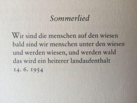 """Deutsche Lyrik von damals und heute — """"Sommerlied"""" von Ernst Jandl"""