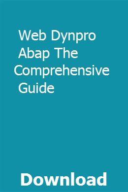 Web Dynpro Abap The Comprehensive Guide | laracgete | Pdf