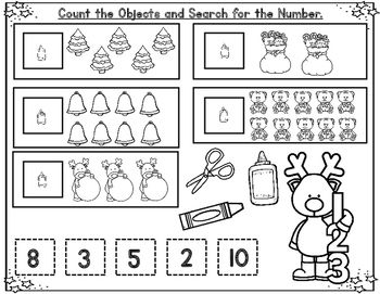Freebie Sampler December Kindergarten Math Worksheets Christmas Math Kindergarten Math Worksheets Kindergarten Math December Kindergarten