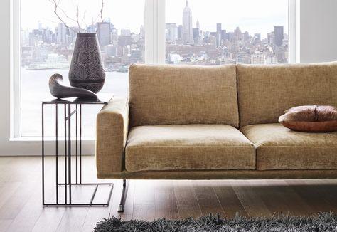 Cherished gold: CARLTON sofa in golden beige fabric http://www ...