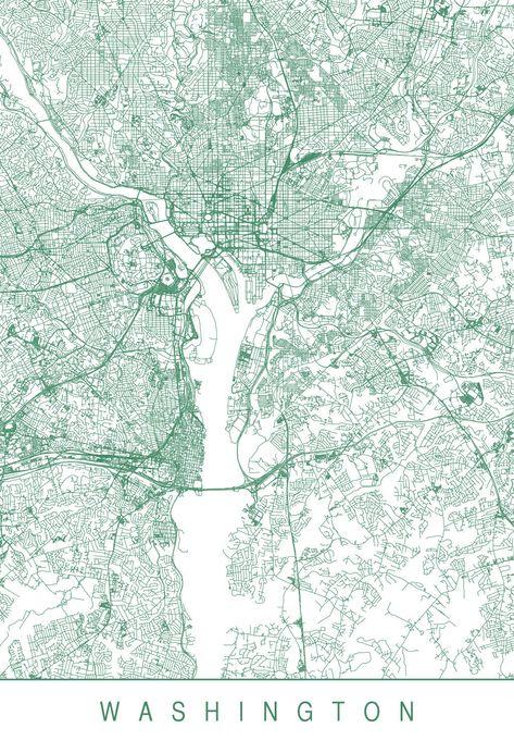 Washington Dc Karte.Pinterest пинтерест