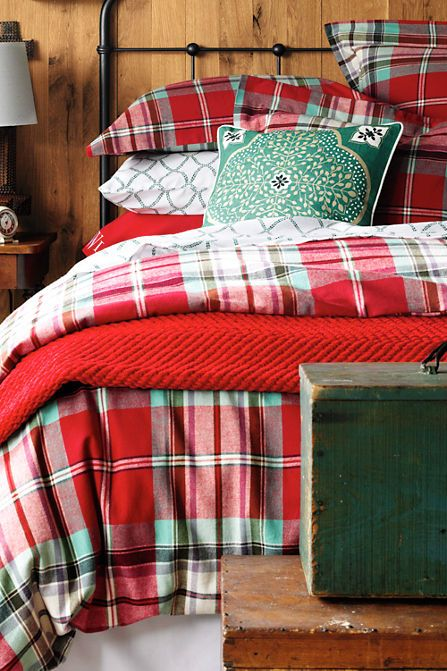 5oz Flannel Plaid Bedding From Lands End