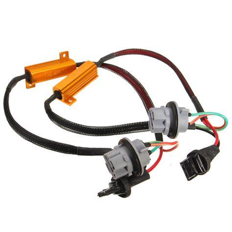 Pair T20 7440 Led Car Light Decoder Resistor Warning Canceller Error Free 50w In 2020 Led Car Lights Car