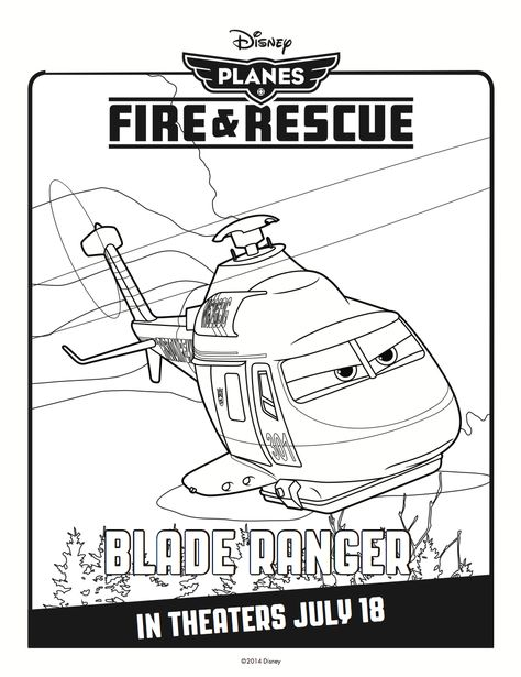 Blade Ranger Coloring Page Disney Coloring Pages Disney Planes
