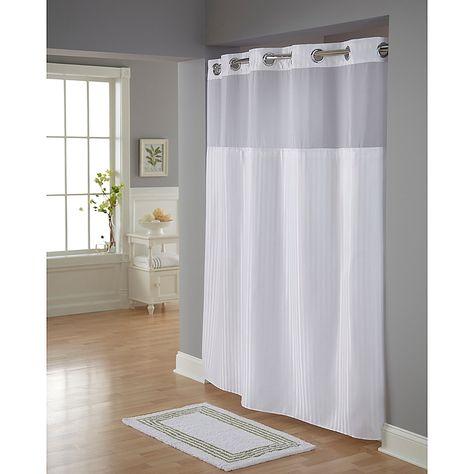 Hookless Classic Herringbone Shower Curtain In White Hookless