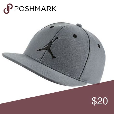 161387507b5 Jordan Boys  Jumpman Snapback Hat New with tag Style 9A1795-146 Color Cool  Grey Boys  flat brim basketball cap Twill fabric offers an elevated look  Interior ...