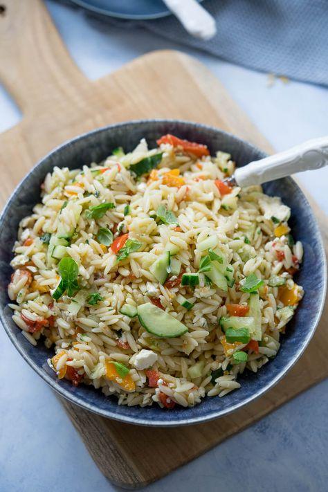 Kritharaki Salat - auch mit Rezept für den Thermomix