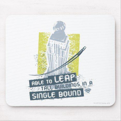Superman Able To Leap Tall Buildings Mouse Pad Superman