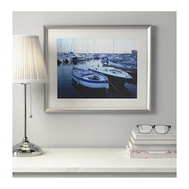 Silverhojden Frame Silver Colour 40x50 Cm With Images Diy Picture Frames Frames On Wall White Frame