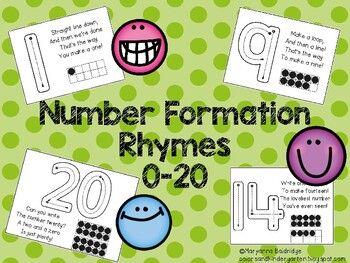 Number Formation Rhymes 0 20 Number Formation Rhymes