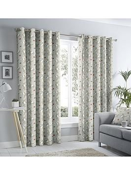 Fusion Aura Lined Eyelet Curtains 90x90 Natural Width 117x137cm 46x54inches In 2020 Curtains Grey Curtains Curtains Width