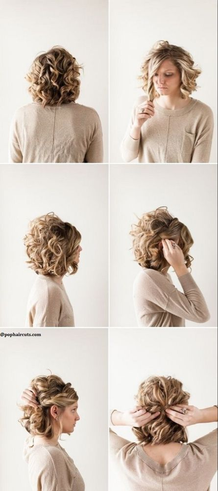 Idee Coiffure Cheveux Court Boucles Prom Hairstyles For Short Hair Short Hair Styles Thick Hair Styles