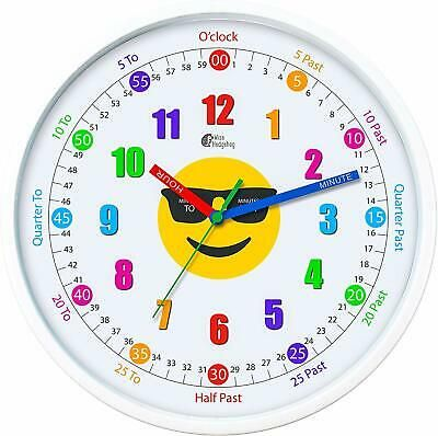 Telling Time Teaching Clock 12 Silent Movement Analog Learning For Kids Perfect Fashion Home Garden Homedcor In 2020 Teaching Clock Learning Clock Clock For Kids