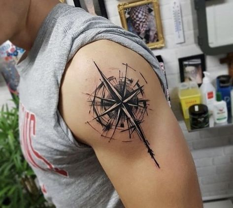 #Compass  #tattoo #Compass #Tattoo #-  Compass Tattoo - Tattoo -