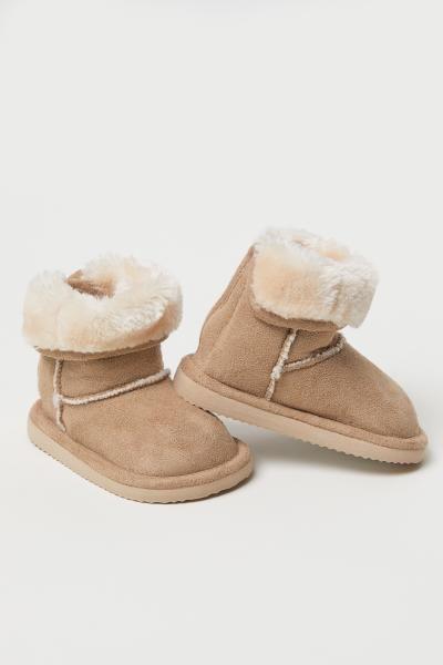 Warm-lined Boots - Beige - Kids | H\u0026M