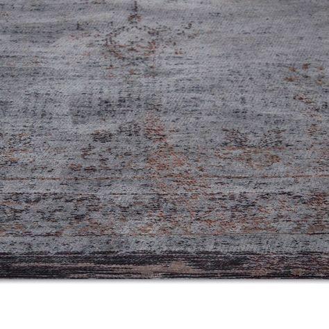Louis De Poortere Fading World Rugs 8257 Grey Ebony60x90cm 3 0 X2 0 Rugs Fashion Room World