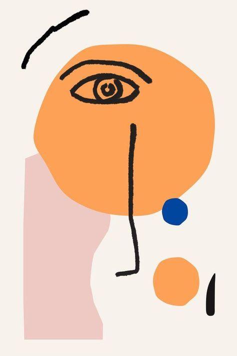 Good inspiration for a kids Matisse art project - Matisse Face Art Print - Henri Matisse Portrait, Line Drawing - Face - Matisse style art Scandi Inspired ART PRINT modern Poster print