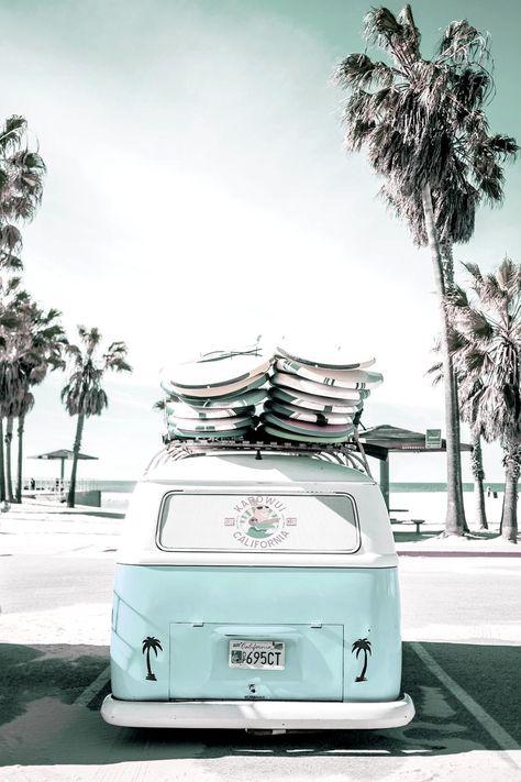 'pink kombi van surf art in pastel' Poster by PinkJellyfishCo Collage Mural, Bedroom Wall Collage, Photo Wall Collage, Picture Wall, Picture Collages, I Phone 7 Wallpaper, Beach Wallpaper, Surfing Wallpaper, Calendar Wallpaper
