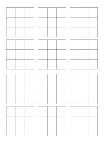 blank bingo template Juegos Pinterest Bingo template and - blank jeopardy template