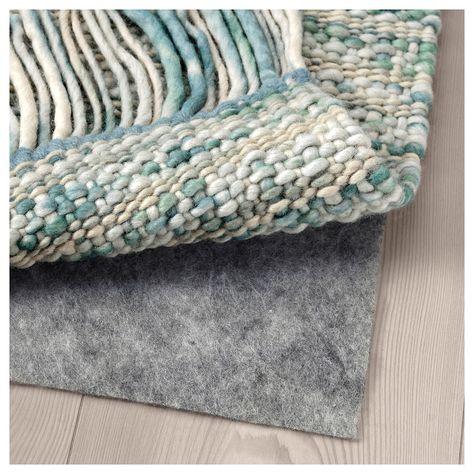 KÖPENHAMN Teppich flach gewebt Handarbeit blaugrün in 2019