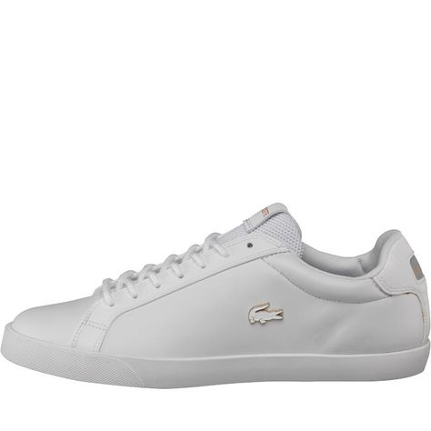 new product 81d97 053e2 Lacoste Mens Graduate Vulc Platinum Trainers White Grey