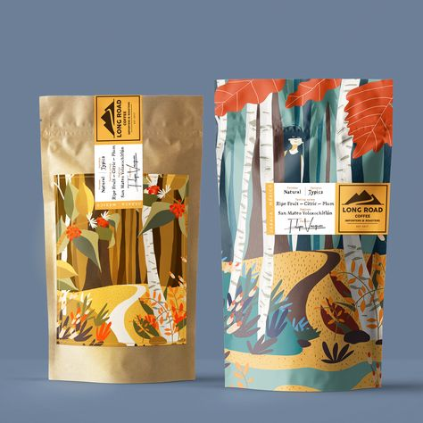 Branding, Packaging Design and Illustration for California Organic Coffee PACKAGING DESIGN World Packaging Design Society│Home of Packaging Design│Branding│Brand Design│CPG Design│FMCG Design