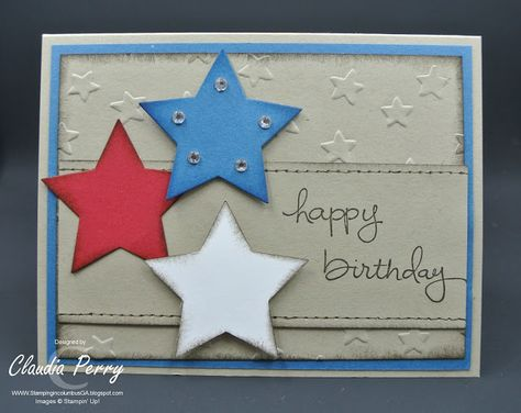 Stamping in columbus ga texas birthday card stampin up stamping in columbus ga texas birthday card stampin up endless birthday wishes stars patriotic my stampin up creations pinterest bookmarktalkfo Gallery
