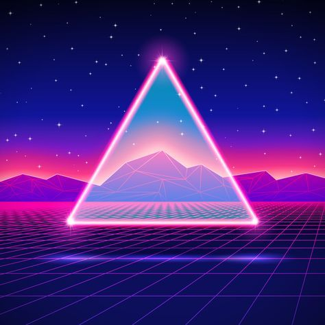 New Retro Wave vectors 2015-201 on Behance | paint tips&art in 2019