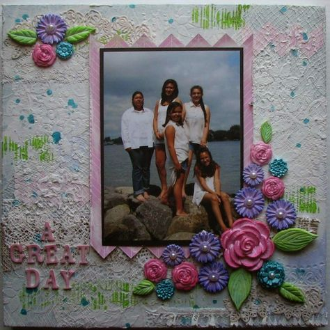 Ann Butler Designs and Cool 2 Cast Designer Blog hop - A Great Day Memory Canvas